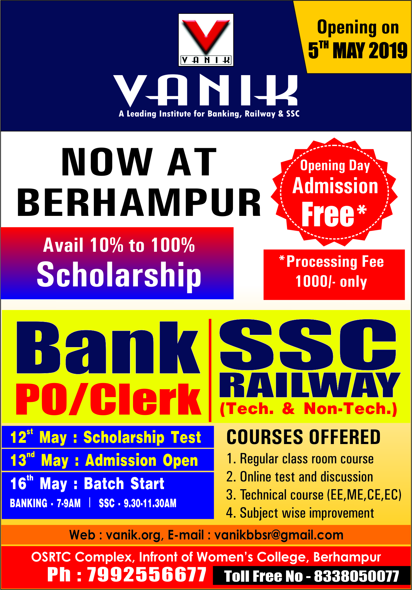 Vanik : Banking Coaching Institute in Bhubaneswar, Odisha